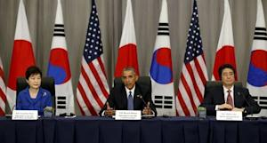 President Obama in trilateral meeting with Korean and …