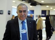 Israel Finance Minister Yuval Steinitz met with Palestinian prime minister Salam Fayyad, pictured in January 2012, on Tuesday to discuss economic issues, a statement said