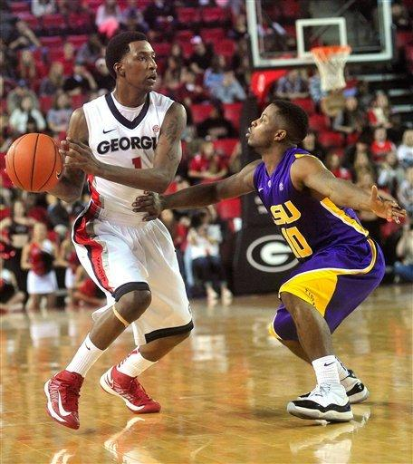 Caldwell-Pope leads Georgia past LSU 67-58