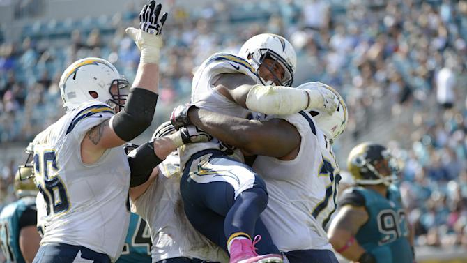 Chargers handle winless, lifeless Jaguars 24-6