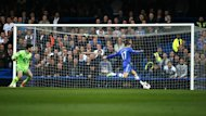 Chelsea's Eden Hazard misses an open goal against Tottenham (Reuters)