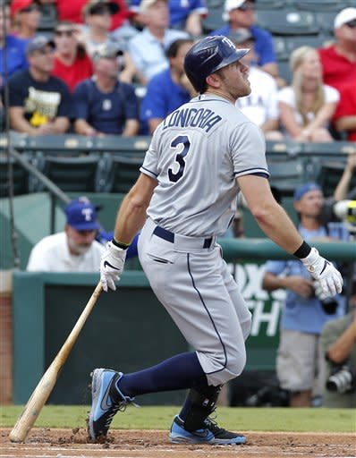 Longoria homers twice to help Rays top Rangers 8-4