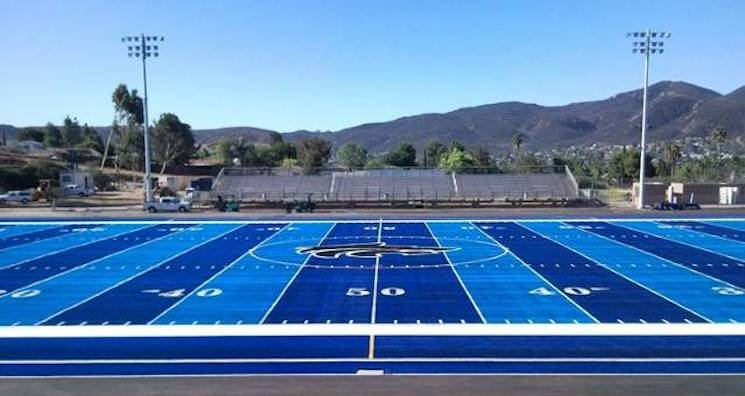 West Hills High in Santee, Calif. is home to the nation's only two-tone prep field — West Hills football