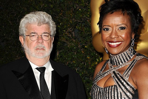 George Lucas mit seiner Verlobten Mellody Hobson. (Bild: Getty Images)