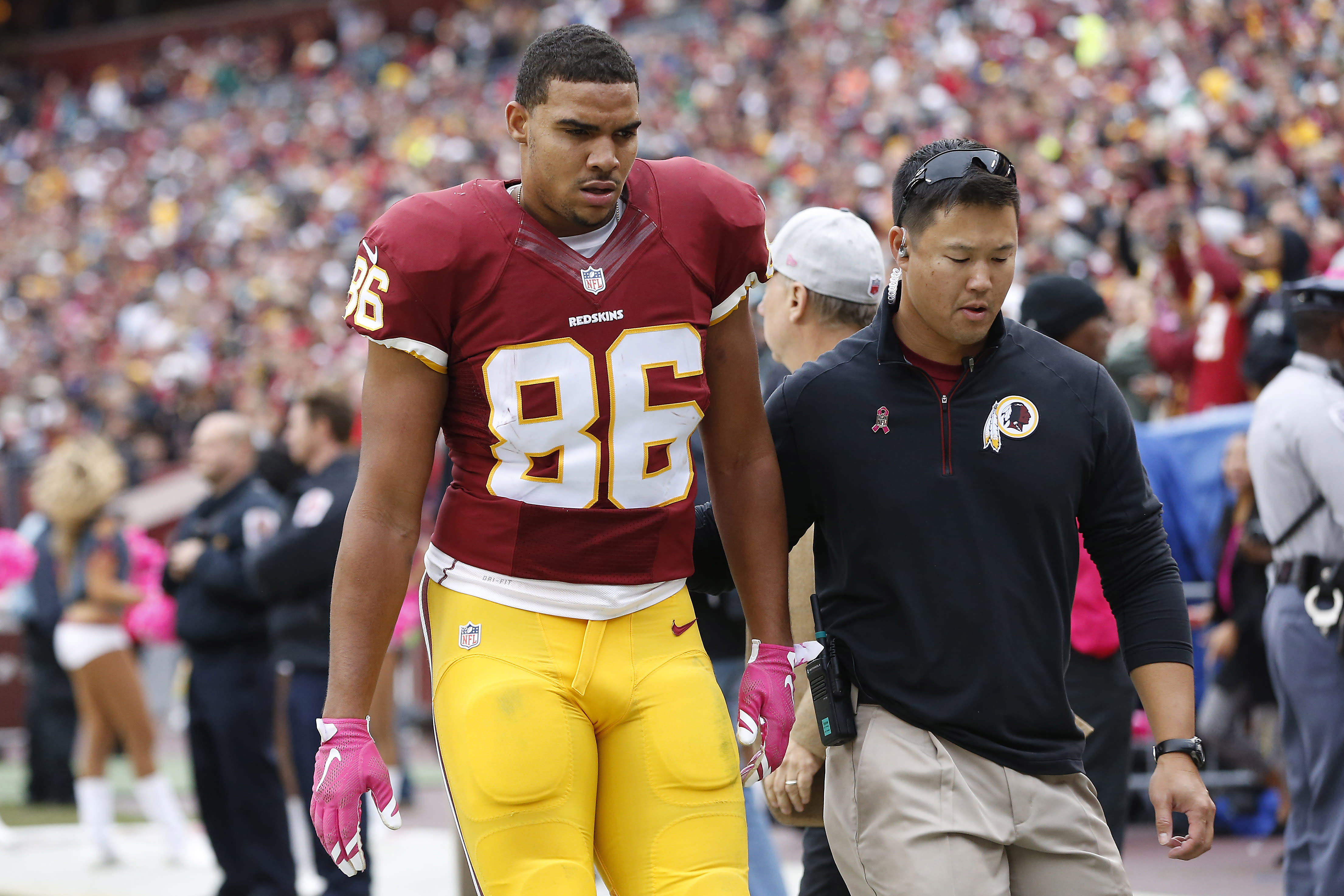 After concussion, status for Jordan Reed remains unclear