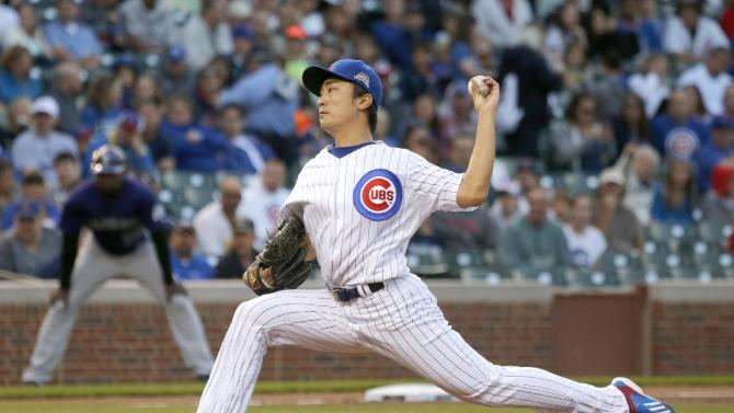 Wada earns 1st MLB win as Cubs beat Rockies