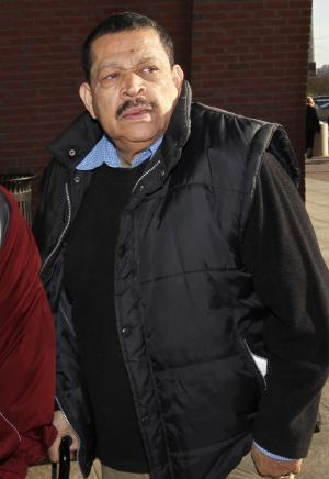 FILE - In this Dec. 19, 2011 file photo, Inocente Orlando Montano, a former Salvadoran military officer, arrives at federal court in Boston.  Montano, accused of colluding in the 1989 slayings of six Jesuit priests, admitted Tuesday, Sept. 11, 2012 in federal court in Boston that he lied to U.S. immigration officials, a guilty plea that could allow him to be extradited to Spain for prosecution in the killings. (AP Photo/Steven Senne, File)