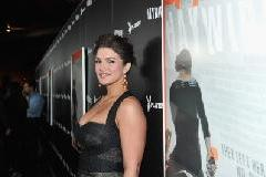Gina Carano smiles at the premiere of Relativity Media's 'Haywire' at DGA Theater in Los Angeles on January 5, 2012  -- Getty Images