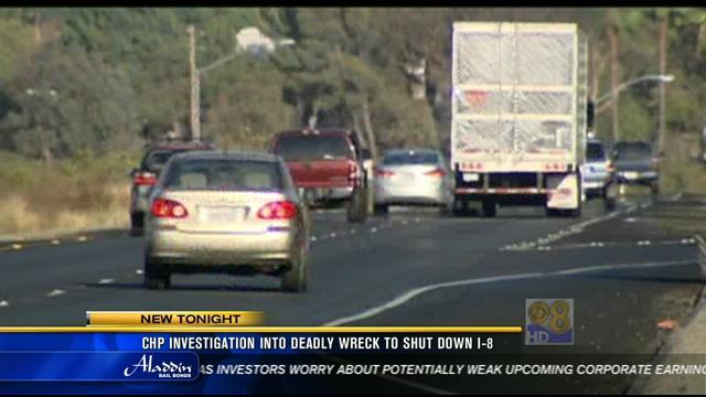 CHP investigation into deadly wreck to close parts of Interstate 8