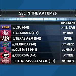 SEC Today: SEC in the AP Top 25 (10/5)