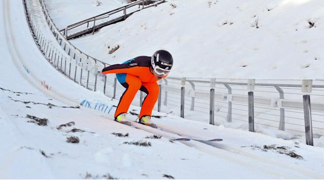 Visa Women's Ski Jumping Team-Training