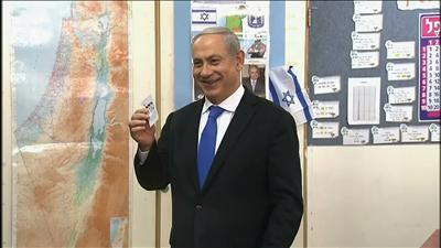 Raw: Election Day in Israel, Netanyahu Votes