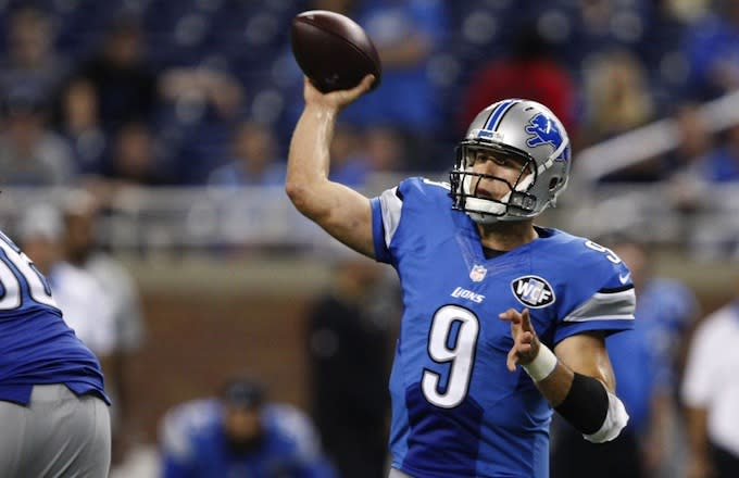 Lions Quarterback Matthew Stafford Was About to Throw a Block for Ameer Abdullah But Quickly Changed His Mind