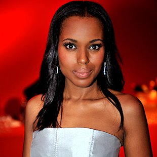 Kerry Washington with enhanced lashes