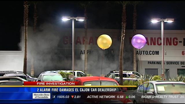 2-alarm fire damages El Cajon car dealership