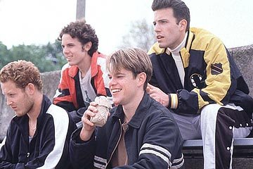 Cole Hauser , Casey Affleck , Matt Damon and Ben Affleck in Miramax's Good Will Hunting