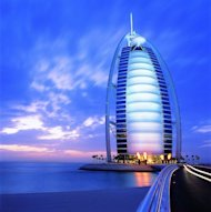 The Burj Al Arab Hotel in Dubai was named the world's leading hotel