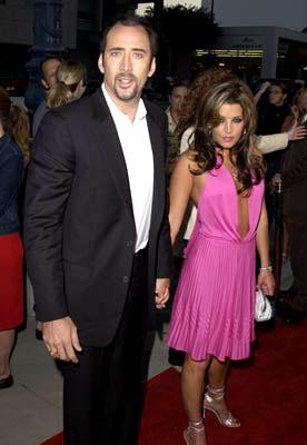 Nicolas Cage and Lisa Marie Presley at the Beverly Hills premiere of Universal's Captain Corelli's Mandolin