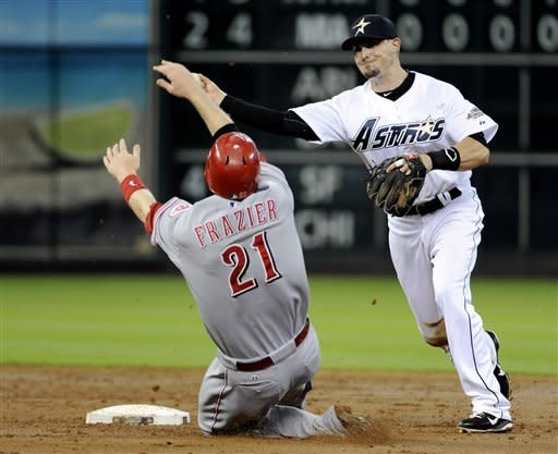 Astros end August 5-22 with 9-3 loss to Reds