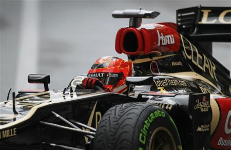 Lotus Formula One driver Kimi Raikkonen of Finland drives during the qualifying session of the Monaco F1 Grand Prix