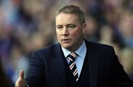 Rangers manager Ally McCoist (pictured in February) said he was just happy to see his side playing football again after their reincarnation in the lower leagues of Scottish football began with an extra-time 2-1 over Brechin in the Challenge Cup