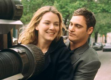 Jacinda Barrett and Joaquin Phoenix in Touchstone's Ladder 49