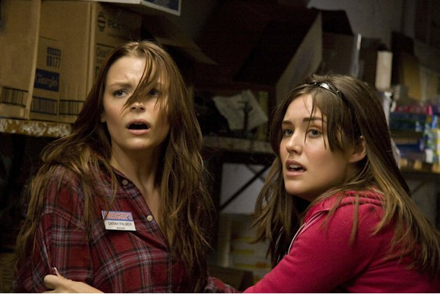 Jaime King Megan Boone My Bloody Valentine 3D Production Stills Lionsgate 2009