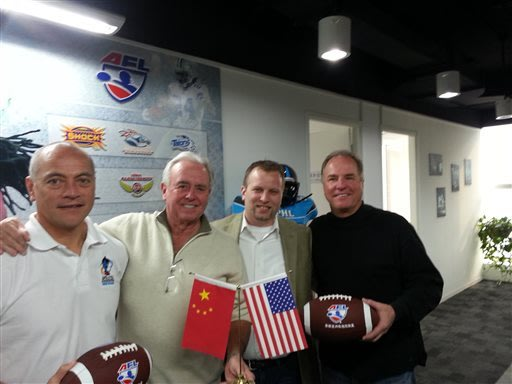 Arena Football League set to touch down in China