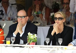 Prince Albert and Charlene Wittstock at an event in Monaco last week, before the rumors started.(Tony Barson/ Getty Images)