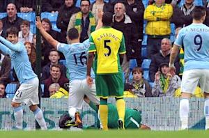 Manchester City 7-0 Norwich City: Aguero shines as hosts run riot