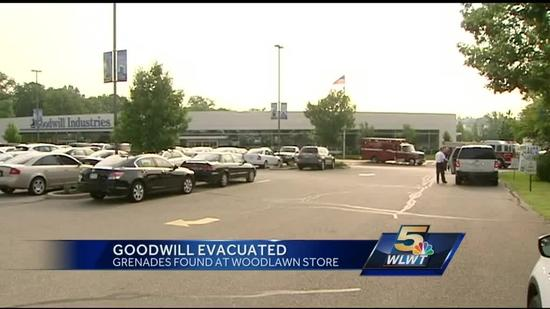 Inert grenades cause scare at thrift store