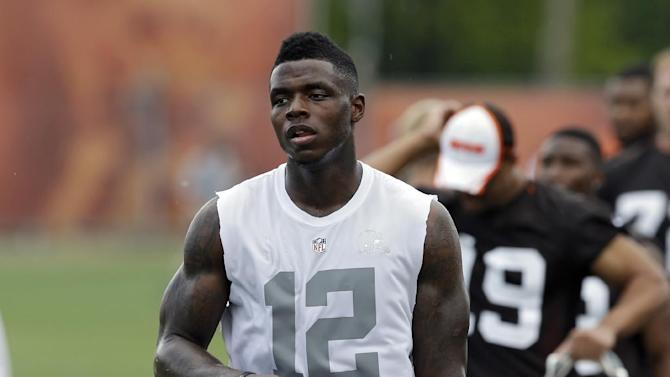 IFLE - This is a June 3, 2014 file photo showing Cleveland Browns wide receiver Josh Gordon walking off the field after organized team activities at the NFL football team's facility in Berea, Ohio. Gordon was arrested and charged with driving while intoxicated after speeding down a street in Raleigh on Saturday, July 4, 2014, bringing the troubled Pro Bowler's already cloudy future into more doubt.  Gordon was taken into custody after being pulled over for going 50 mph in a 35 mph zone on U.S. 70 in northwest Raleigh around 3 a.m. Saturday, police spokesman Jim Sughrue said