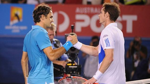 Roger Federer and Andy Murray at the Australian Open