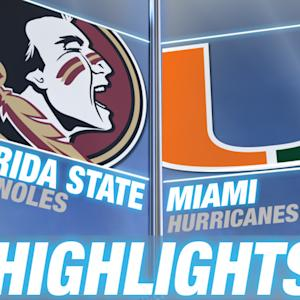 Florida State vs Miami | 2014-15 ACC Men's Basketball Highlights