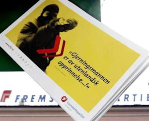 A brochure for Norway's populist Progress Party (fremskrittspartiet) that urges tighter limits on ...
