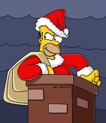 Homer (voiced by Dan Castellaneta) tries to steal Christmas in the episode 'Tis the Fifteenth Season.' Fox's The Simpsons