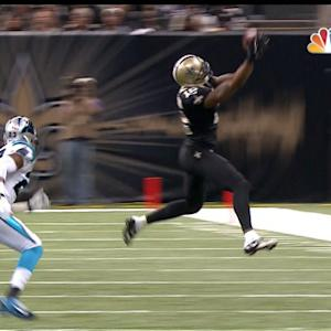 New Orleans Saints wide receiver Marques Colston 21-yard reception