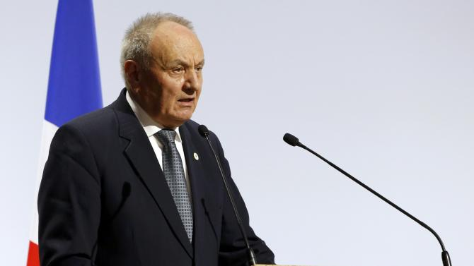 Moldova's President Timofti delivers a speech during the opening session of the World Climate Change Conference 2015 (COP21) at Le Bourget