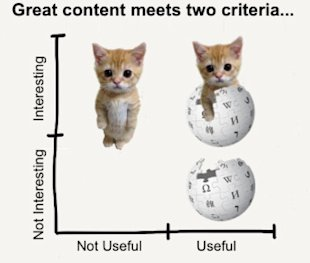 Great Content Meets 2 Criteria: Does Yours? image great content LOLcats wikipedia