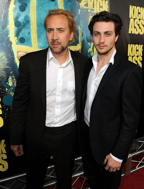 Kick Ass LA Premiere 2010 Nicolas Cage Aaron Johnson