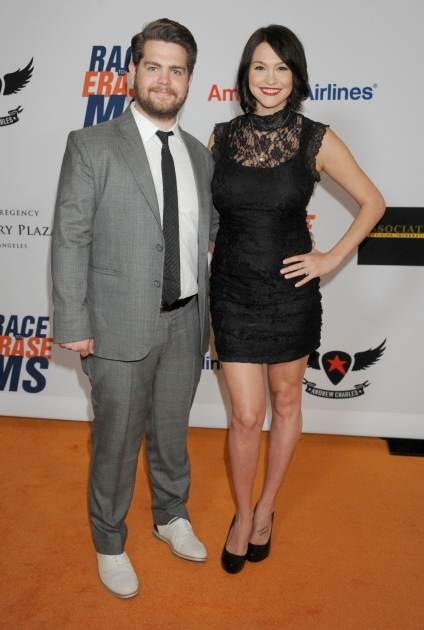Jack Osbourne and Lisa Stelly arrive at the 19th Annual Race To Erase MS Event at the Hyatt Regency Century Plaza, Century City, Calif., on May 18, 2012 -- Getty Premium