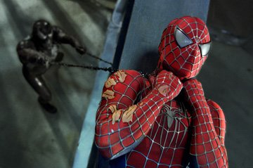 Tobey Maguire as Spider-Man battles Venom in Columbia Pictures' Spider-Man 3