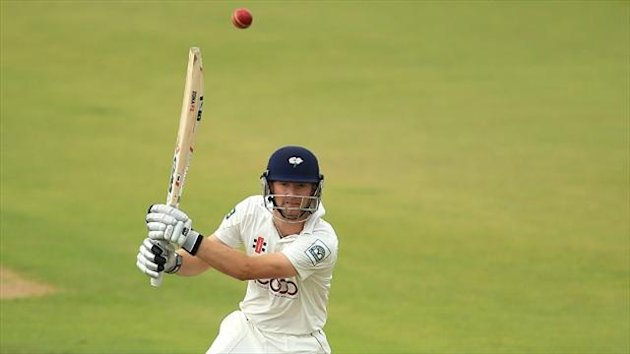 Adam Lyth scored an unbeaten half-century during the first morning at Trent Bridge