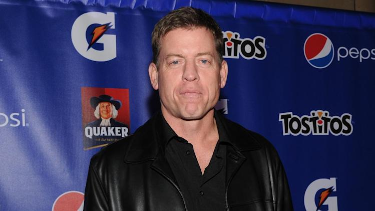 IMAGE DISTRIBUTED FOR PepisCo - Former NFL player Troy Aikman attends  the PepsiCo Pre-Super Bowl Party, at Masquerade Night Club, on Friday, Feb. 1, 2013 in New Orleans. (Photo by Evan Agostini/Invision for PepsiCo/AP Images)