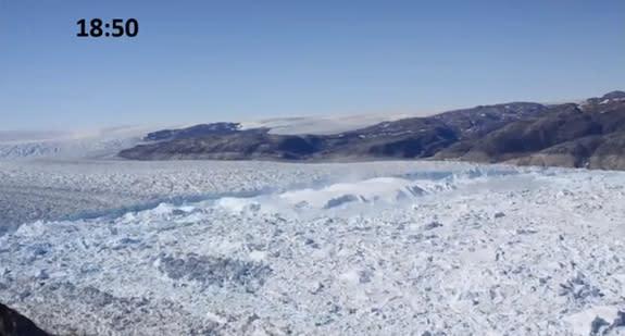 Video Captures Amazing Greenland Glacier Crackup
