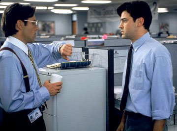 Gary Cole and Ron Livingston in 20th Century Fox's Office Space