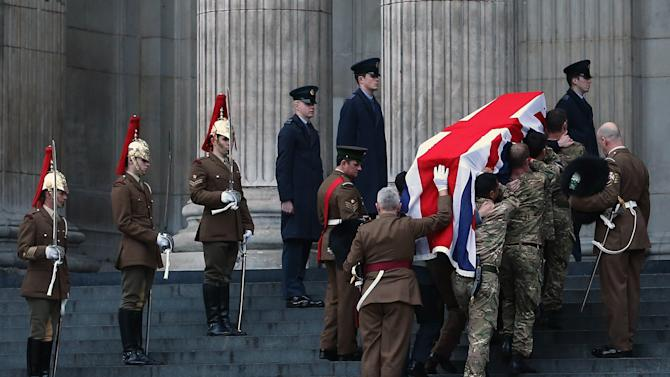 Rehearsal For The Funeral Procession For Former Prime Minister Margaret Thatcher