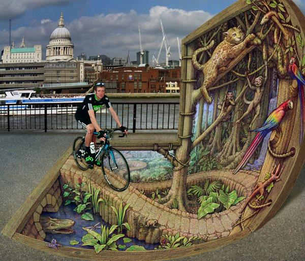 'Rain Forest on the Thames' by Kurt Wenner