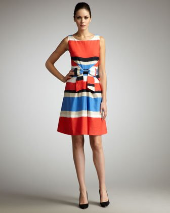 Kate Spade's Jillian Striped Bow-Waist Dress