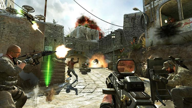 "This undated publicity image released by Activision shows soldiers and terrorists battling in the streets of Yemen in a scene from the video game, ""Call of Duty: Black Ops II.""  Video-game violence has come under increased scrutiny after the killing of 26 people, including 20 children, in a Connecticut elementary school last week. (AP Photo/Activision)"